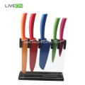 Coating Color Knife Set With Acrylic Stand
