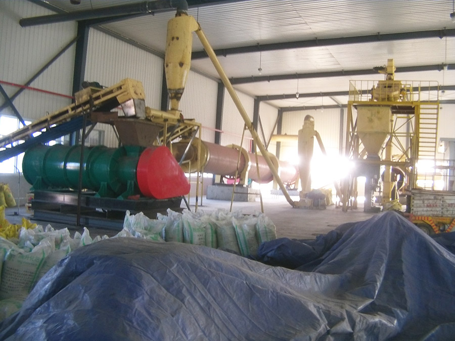 Fertilizer pellet prodution line