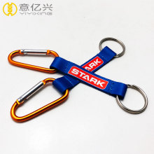 custom D-shaped aluminum hiking snap carabiner keychains