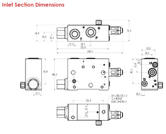 Inlet Section Dimensions
