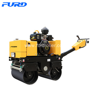 Bottom price for Walk-Behind Double Drum Roller,Manual Roller Compactor,Walk Behind Roller Manufacturer in China 800KG Diesel Pedestrian Road Roller export to Northern Mariana Islands Factories