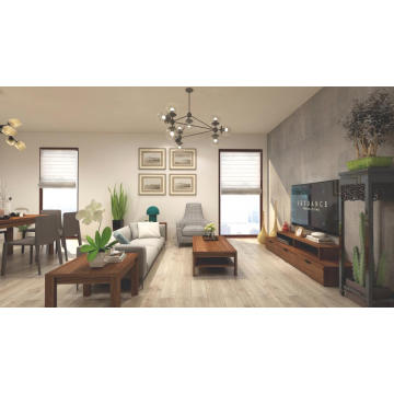 Madilim na Walnut Living Room Wooden Furniture Sets