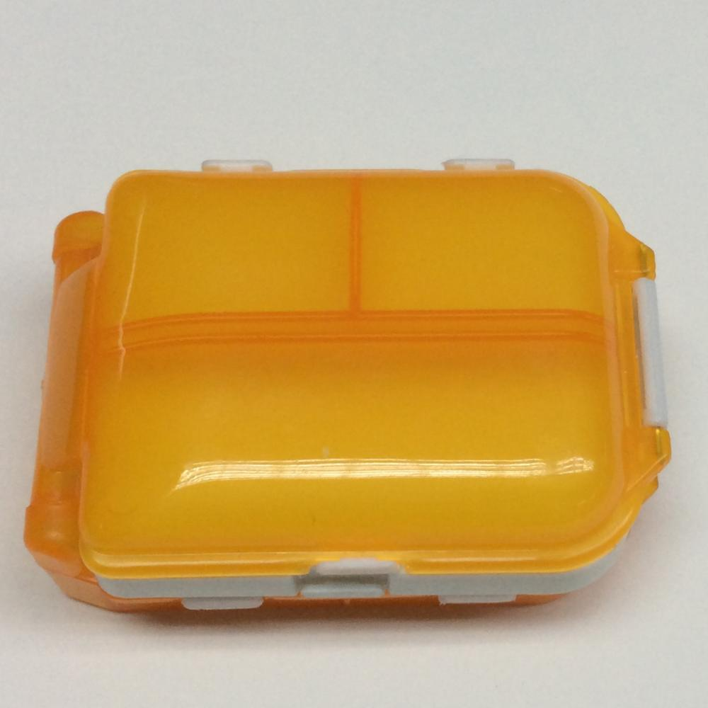 Plastic Classified Three Layer Square Pill Case