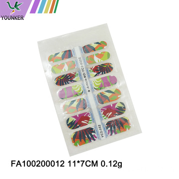 Colorful Flower Design New Nail Sticker