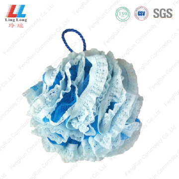 body scrubber Mesh lace bath shower luffa sponge