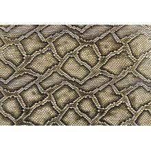 China for Microfiber Shoe Leather Snake Grain Embossed Pu Leather export to Spain Exporter