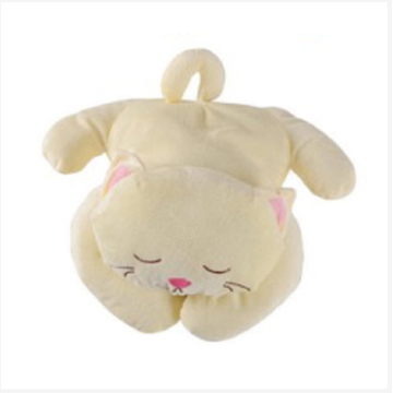 Oreiller en peluche chat confortable