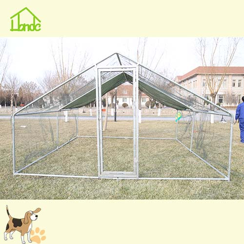 Galvanized Large Extendible Chicken Coop Run With Cover