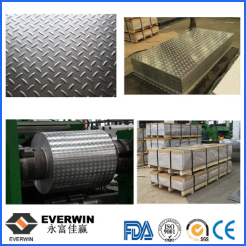 Aluminum Checkered Plate with Paper Interleaved