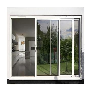 Lingyin Construction Materials Thermal break double large glass aluminium sliding door for meeting room