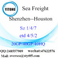 Shenzhen Port Sea Freight Shipping To Houston