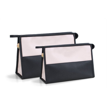 Waterproof Simple Toiletry Travel Zipper Pu Cosmetic Bag