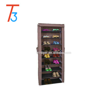 Non-woven fabric sliding door shoe rack with cover