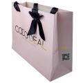 Fashion Pink Ribbon Decoration Paper Tote Bag
