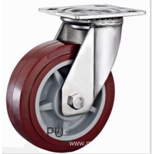4 inch Stainless steel bracket PU  casters without brakes