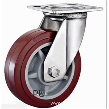 8  inch Stainless steel bracket  PU  casters without brakes