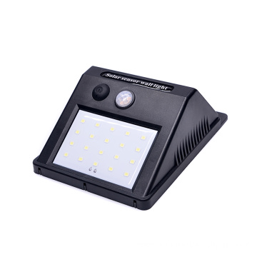 20 SMD outdoor sensor solar wall light