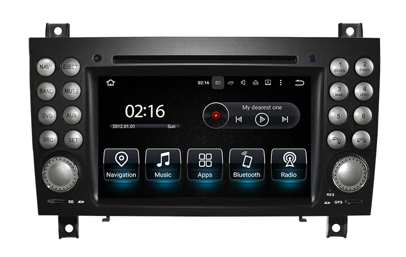 Android Navigation Benz Slk 0412 Front