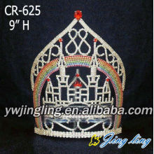 Fashion Castle Crown Rhinestones Diadem For Girl