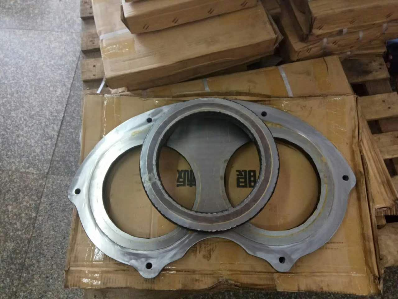 DN230 wear plate and cutting ring
