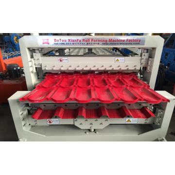 Building Material Roof Double Decker Roll Forming Machine