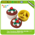 Christmas Creamy strawberries Cake  Eraser,Students  Eraser puzzle