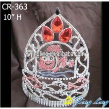 Popular Design for Teddy Bear and Heart Pageant Crowns New fashion animal fish special custom pageant crowns export to Thailand Factory