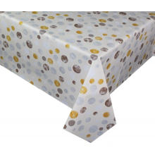 Pvc Printed fitted table covers Light Blue