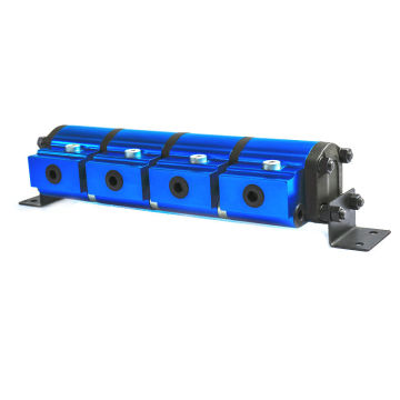 4 sectional flow divider with relief valve