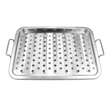 China for China Grill Basket,Vegetables Grill Basket,BBQ Grill Basket Wholesale Professional-Grade Stainless Steel BBQ Grill Basket supply to Italy Factory