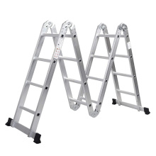 High Quality for China Aluminum Multifunction Ladder,Multipurpose Ladder With Hinges Supplier Adustable aluminium multi-purpose scissors ladder supply to Lesotho Factories