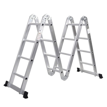 Adustable aluminium multi-purpose scissors ladder