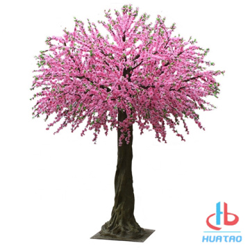 Anti UV Artificial Peach Blossom Tree