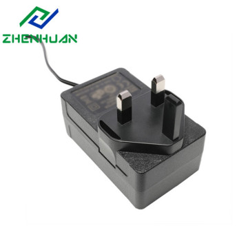 36W 12 / 24Volt UK Blade AC DC Power Adapter