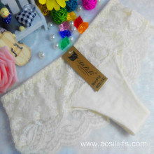 OEM wholesale China cheap panty light yellow sexy bikini cotton lace elastic new style fancy underwear 012