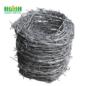 Galvanized PVC Coated Barbed Wire Fence Yard