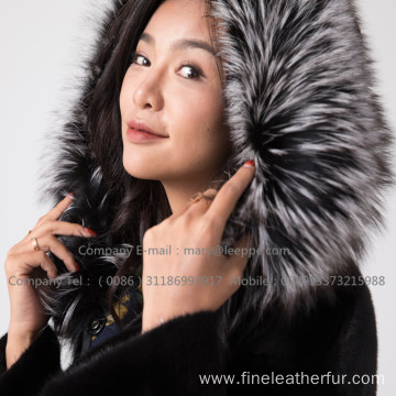 Winter Reversible Mink Fur Overcoat For Women