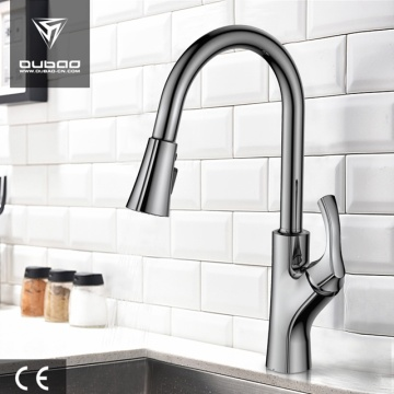 Brushed Nickel Coloured Silicone Tube Kitchen Water Taps