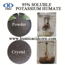 Special for Potassium Humate Powder 100% soluble potassium humate shiny powder/crystal/flakes export to Armenia Factory