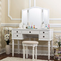 Professional 5 drawers Makeup Mirror Modern Dresser French Mirrored-table