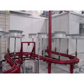 Automobile wheel spraying production line