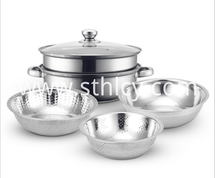 Stainless Steel Three Piece Rice Sieve1