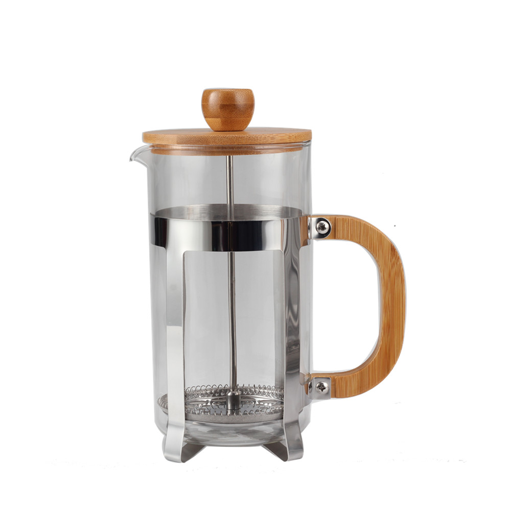 French Press Bamboo Handle French Press