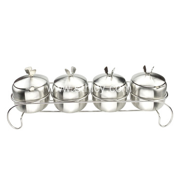 High Quality Stainless Steel 304 Shelf Spice Jar