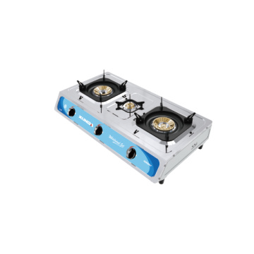SS 3 Burner Cooking Table Gas Stove
