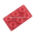 6 Cavity Medium Silicone Doughnut Donut Baking Molds