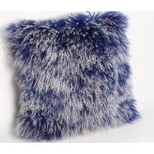 Mongolian Lamb Fur Cushion with Snowtop