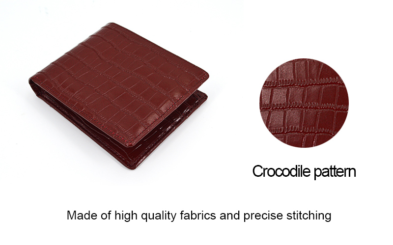Hot Sales Men Crocodile Leather Wallet for Travel
