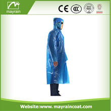 Wholesale Adult PE Long Sleeve Disposable Raincoat