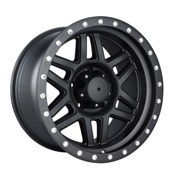 Aluminium Jeep Wheel Balck With Rivet